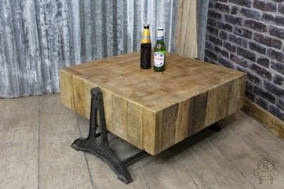 coffee table industrial vintage style