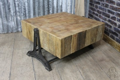 coffee table vintage industrial style