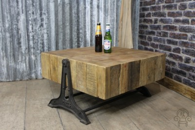 coffee table vintage style industrial style