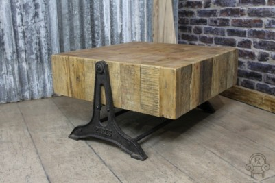 vintage style industrial coffee table
