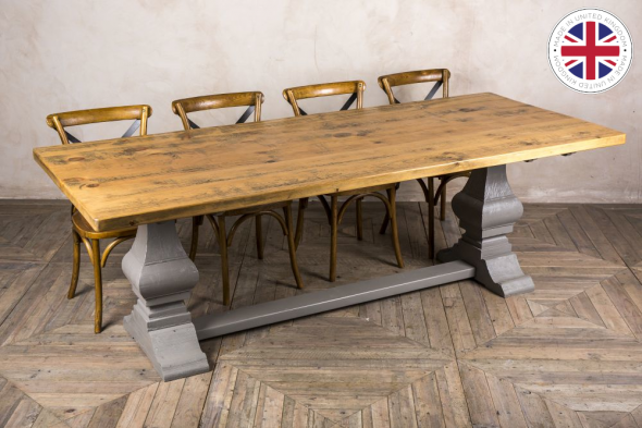 Tuscan Table Handmade from Reclaimed Rustic Timber