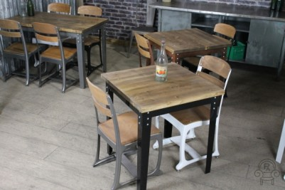 industrial style cafe bar tables