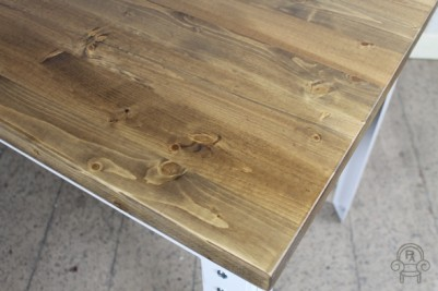 industrial style pine top table