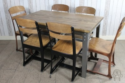 industrial inspired cafe tables
