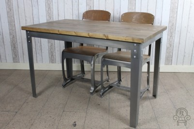 industrial style restaurant tables