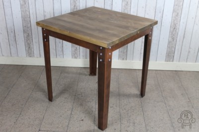 small aged copper cafe table