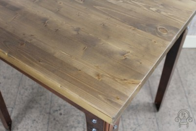 vintage style table with pine top