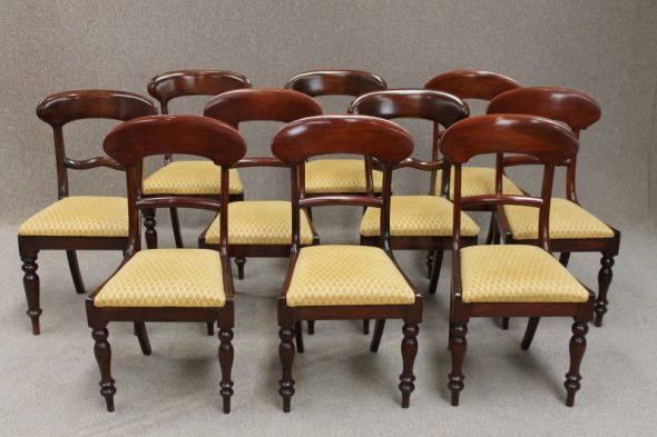 William Iv Dining Chairs in Mahogany
