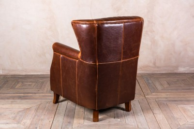 large winged armchair