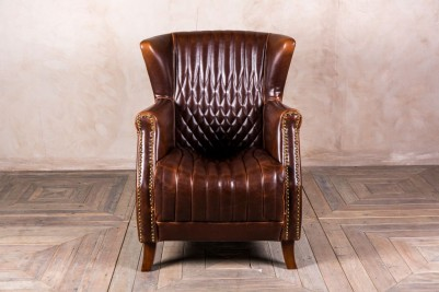 leather vintage style armchair
