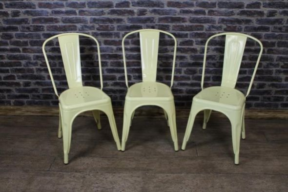 Disc - Tolix chair - Pale yellow