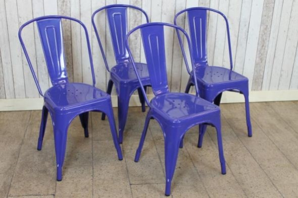 Disc - Tolix chair - Bright blue