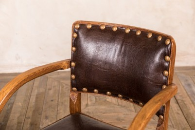 brown upholstered restaurant dining chair