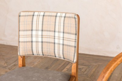 tartan backed restaurant chair