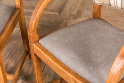 tartan upholstered dining chair