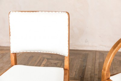 white calico dining chair