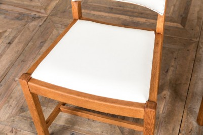white calico restaurant chair