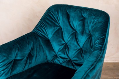 peacock velvet chair