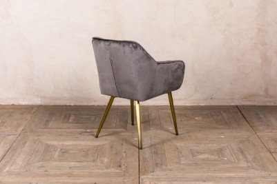 storm grey velvet chair