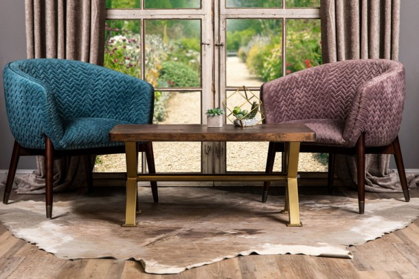 Bavaria Velvet Tub Dining Chairs