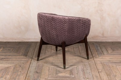 upholstered bucket chair