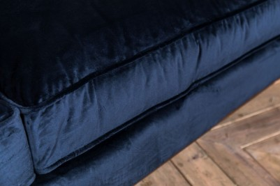 dark blue velvet sofa