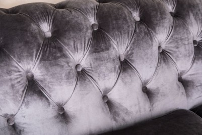 light grey Chesterfield sofa
