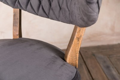 curved back chair