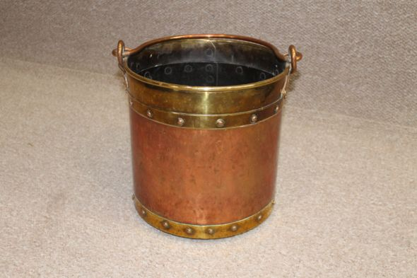 Victorian Coal Bucket in Copper