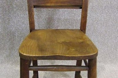 Victorian Elm & Beech chapel chair