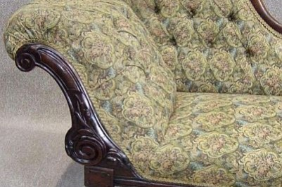 Mahogany chaise lounge