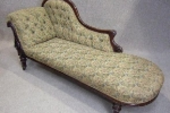 Victorian Mahogany Chaise Lounge