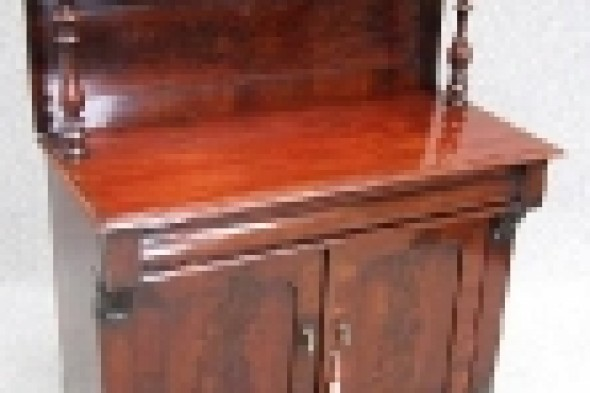 Victorian Mahogany Chiffonier with Single Drawer