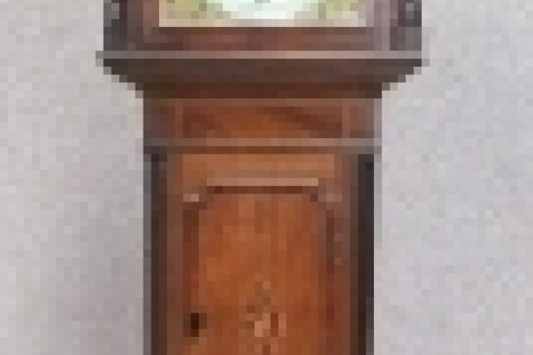 Victorian Oak and Mahogany Eight Day Grandfather Clock