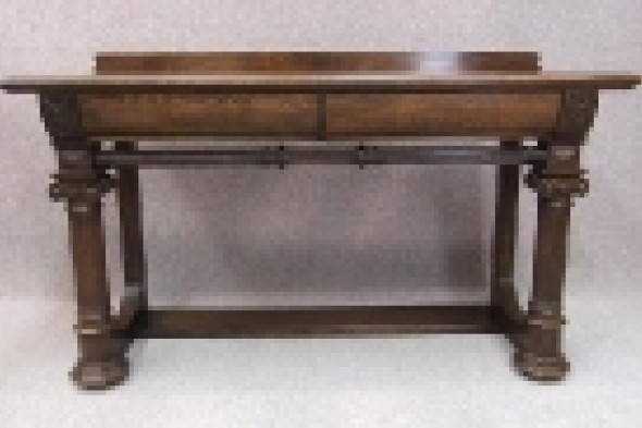 Victorian Oak Serving / Console Table