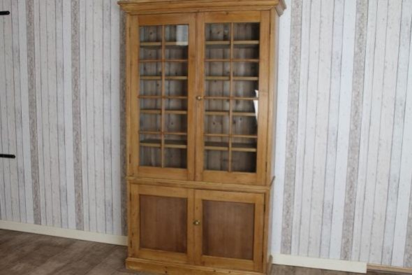 VICTORIAN PINE BOOKCASE HOUSEKEEPERS CUPBOARD