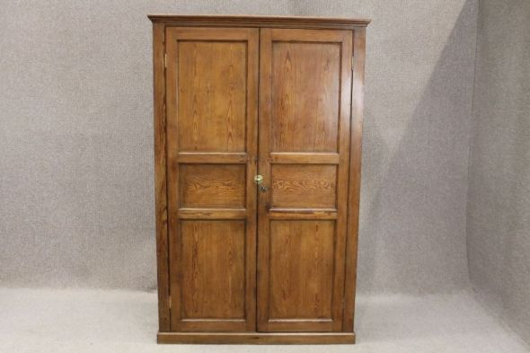 Victorian Pitch Pine School Cupboard