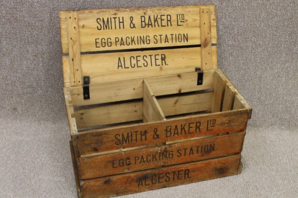 Vintage Packing Crate with Hinge