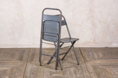 vintage grey folding chairs