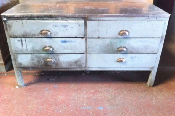 Industrial Steel Sideboard Chest of Drawers