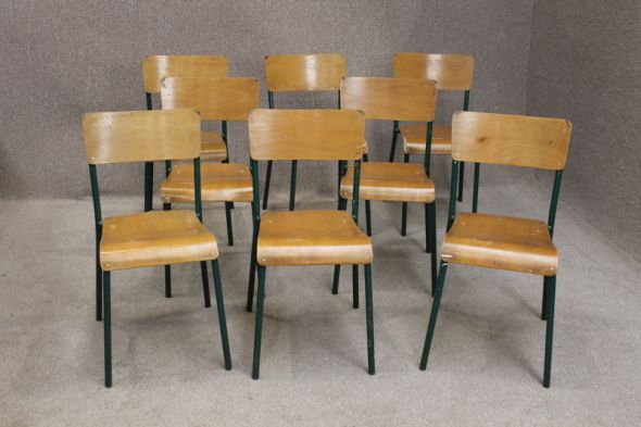 Vintage Metal Stacking Chairs