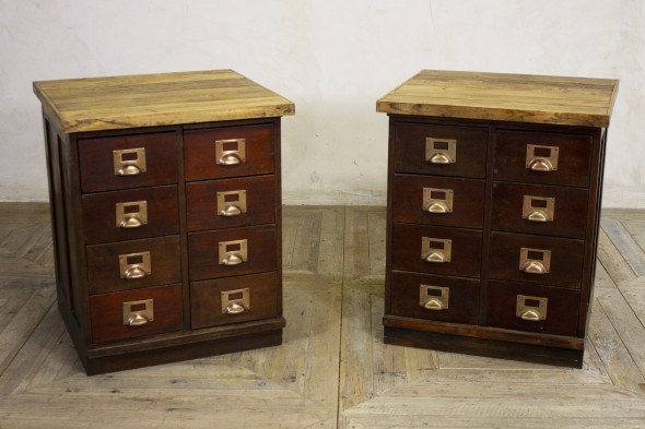 Vintage Style Bank of Drawers