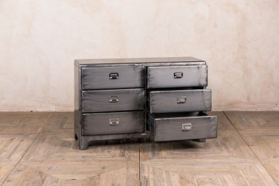 gunmetal chest of drawers