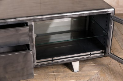 gunmetal tv cabinet