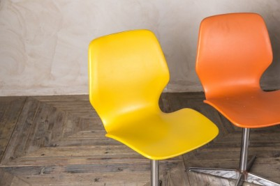 orange vintage dining chairs