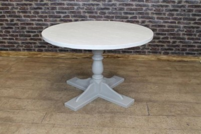 white oiled cafe table
