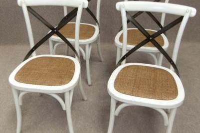 set of rattan seat chairs