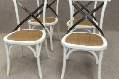 rattan shabby chic cafe chairs