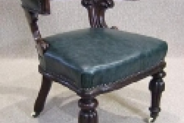 William Iv Mahogany Office Chair