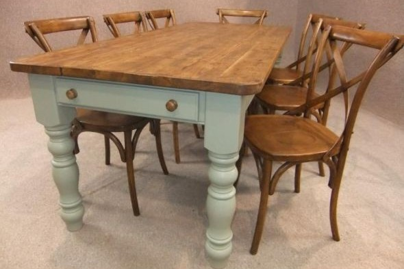 Winchcombe Bespoke Painted Base Table - Pine Top